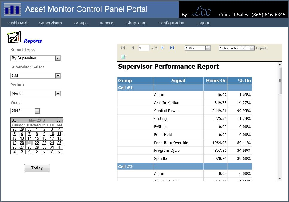 CNC Machine Event and Performance Monitoring